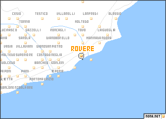 map of Rovere