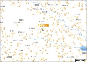 map of Rovine