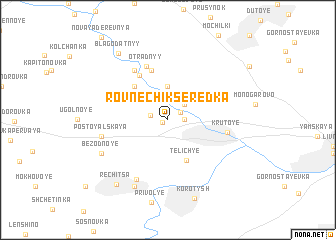 map of Rovnechik Seredka