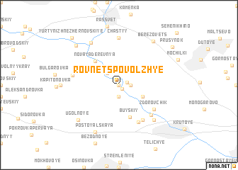 map of Rovnets-Povolzh\