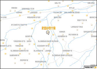 map of Rovnya