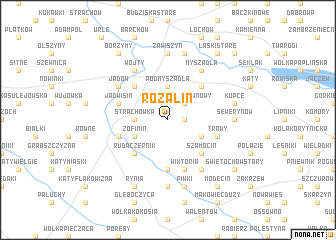 map of Rozalin