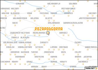 map of Róża Podgórna