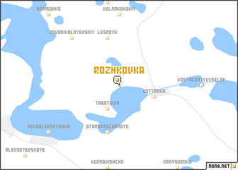 map of Rozhkovka