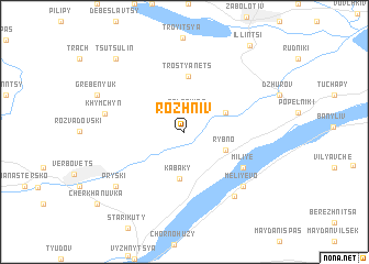 map of Rozhniv