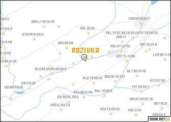 map of Rozivka