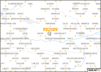map of Rozkoš