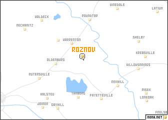 map of Roznov
