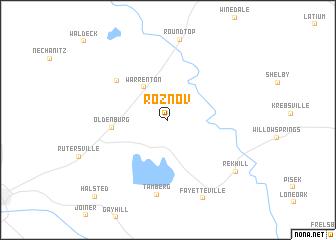 map of Roznov