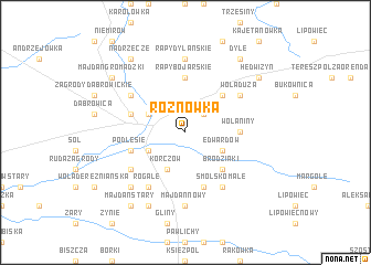 map of Rożnówka