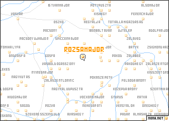 map of Rózsamajor