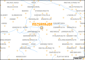 map of Rózsamajor