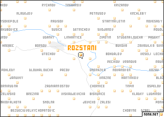 map of Rozstání