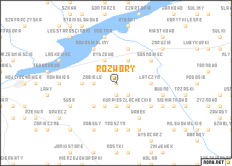 map of Rozwory