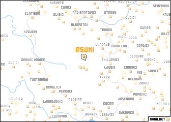 map of Ršumi
