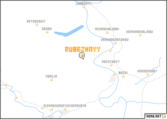 map of Rubezhnyy