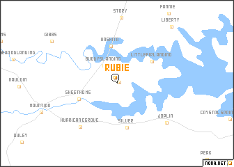 map of Rubie
