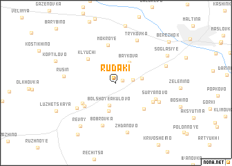 map of Rudaki