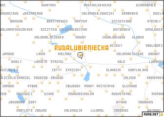 map of Ruda Lubieniecka