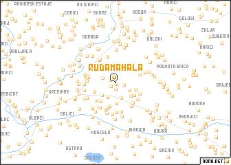 map of Ruda Mahala