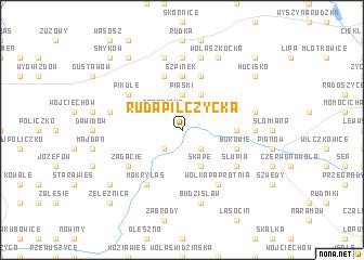 map of Ruda Pilczycka