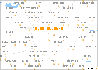 map of Ruda Wołowska
