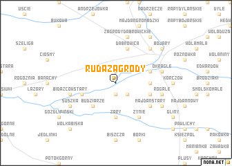 map of Ruda Zagrody