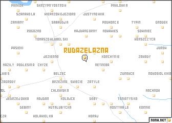 map of Ruda Żelazna
