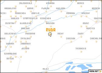 map of Ruda