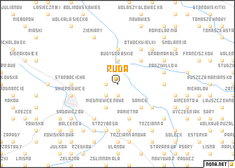 map of Ruda