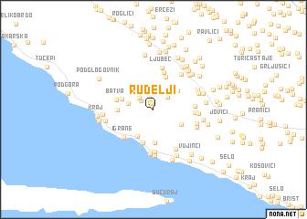map of Rudelji