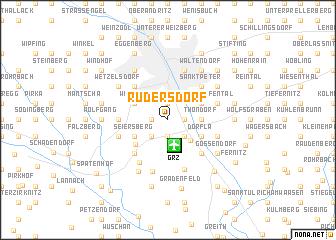 map of Rudersdorf
