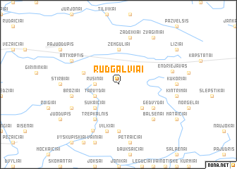 map of Rudgalviai