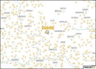 map of Rudine