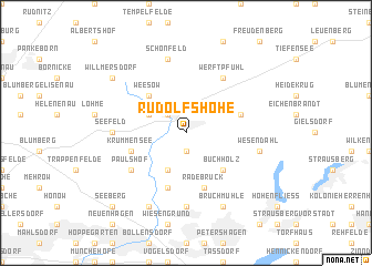 map of Rudolfshöhe