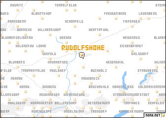 map of Rudolfshöhe