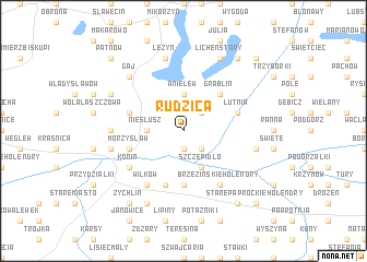 map of Rudzica