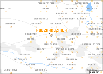 map of Rudzka Kuźnica