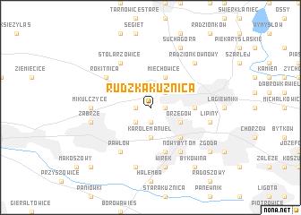 map of Rudzka Kuźnica