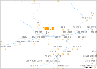 map of Rueun