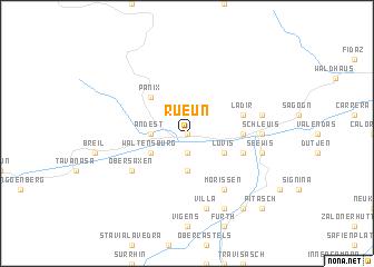 map of Rueun