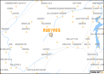 map of Rueyres