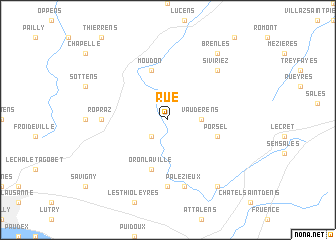 map of Rue