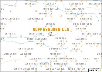 map of Ruffey-sur-Seille