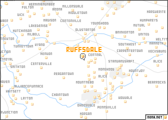 map of Ruffs Dale