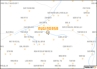 map of Ruginoasa