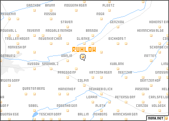 map of Rühlow