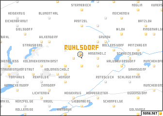 map of Ruhlsdorf