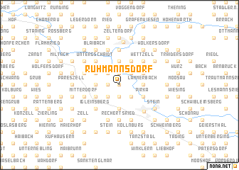 map of Ruhmannsdorf