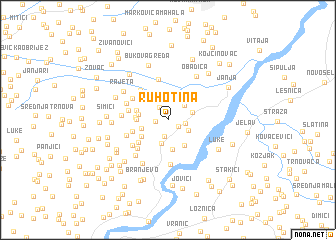 map of Ruhotina